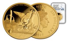 2017 Niue 250 Dollar 1-oz Gold Disney Mickey Fantasia NGC PF70UCAM First Releases