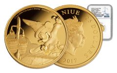 2017 Niue 25 Dollar 1/4-oz Gold Disney Mickey Fantasia NGC PF69UCAM First Releases