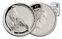2017 Australia 1 Dollar 1-oz Silver Wedge-Tailed Eagle NGC Gem Uncirculated