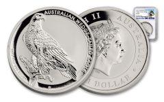 2017 Australia 1 Dollar 1-oz Silver Wedge-Tailed Eagle NGC MS70