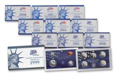 1999-2008 U.S. Proof Set 10-Pc Collection