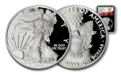 2017-W 1 Dollar 1-oz Silver Eagle Proof NGC PF69UCAM First Releases - Black