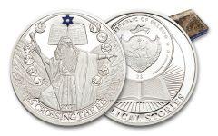 2017 Palau 2 Dollar 1/2-oz Silver Biblical Stories Moses Proof