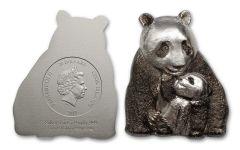 2017 Cook Islands 20 Dollar 3-oz Silver Lucky Panda BU