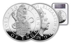 2017 Great Britain Kilo Silver Queen's Beasts Lion NGC PF69UCAM First Struck