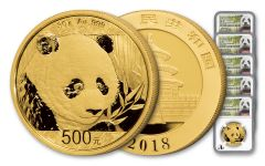 2018 China Gold Panda NGC MS70 First Day Of Issue Prestige 5-Pc Set