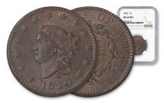 1820-P Large Cent NGC MS65BN