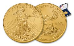 2017 50 Dollar 1-oz Gold Eagle BU in U.S. Mint Presentation Box