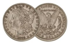 1890-P Morgan Silver Dollar VF