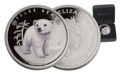 2017 Tuvalu Half Dollar 1/2-oz Silver Polar Bear Babies Proof