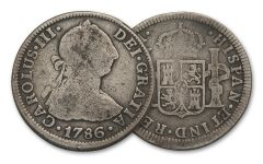 1772-1825 Spain Silver 2 Reales VG