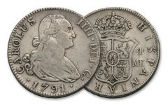 1772-1825 Spain Silver 4 Reales VF