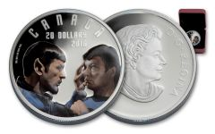 2016 Canada 20 Dollar 1-oz Silver Star Trek Mirror Gem Proof