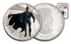 2016 Canada 10 Dollar Silver Batman V Superman Matte NGC PF70