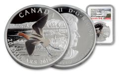 2016 Canada 20 Dollar 1-oz Silver American Avocet NGG PF70UCAM