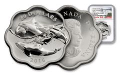2016 Canada 20 Dollar 1-oz Silver Sea Master Orca NGC PF69UCAM