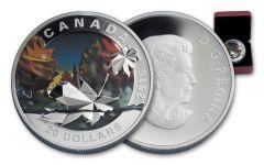 2016 Canada 20 Dollar 1-oz Silver Geometry Maple Proof
