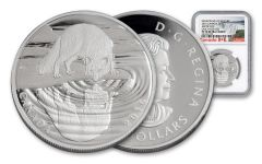 2016 Canada 10 Dollar Silver Wildlife Arctic Fox NGC PF70UCAM Early Release