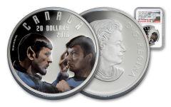 2016 Canada 20 Dollar 1-oz Silver Star Trek Mirror NGC PF70UCAM