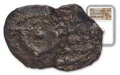 Ancient Widows Mite Bronze Prutah NGC CH F