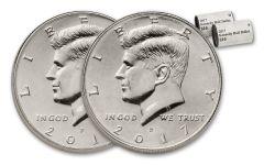 2017 Kennedy Half Dollar P & D 2-Roll Set