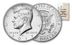 2017 Kennedy Half Dollar P & D 200-Coin Bag