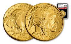 2017 50 Dollar 1-oz Gold Buffalo NGC MS69 225th Anniversary - Black