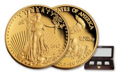 2017-W 50 Dollar 1-oz Gold Eagle NGC PF70UCAM FDI-DC Jones Mercanti Moy Signed 3pc Set