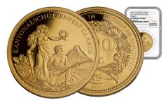 2017 Switzerland 500 Franc 1/2-oz Gold Shooting Thaler NGC PF70UCAM