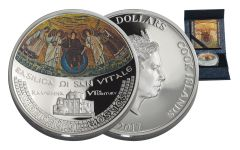 2017 Cook Island 5 Dollar 1-oz Silver Basilica Di San Vitale Proof