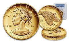 2017-W 100 Dollar 1-oz Gold Liberty High Relief Proof PCGS PR69DCAM