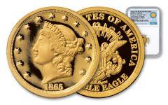 1865 1/10-oz Gold Longacre Double Eagle Pattern NGC PF70UC