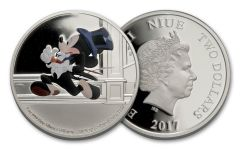 2017 Niue 2 Dollar 1-oz Silver Mickey Delayed Date Proof
