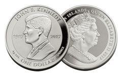 2017 BVI 1 Dollar 1-oz Silver JFK Reverse Proof