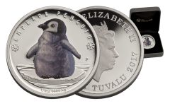 2017 Tuvalu 50 Cent 1/2-oz Silver Polar Babies- Emperor Penguin Proof