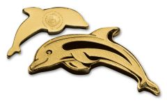 2017 Palau 1 Dollar 1/2 Gram Golden Dolphin Brilliant Uncirculated