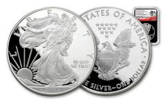 2017-S 1 Dollar 1-oz Silver Eagle Proof NGC PF69UCAM Early Release 225th Anniversary - Black