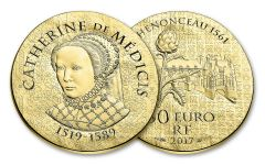2017 France 50 Euro 1/4-oz Gold Women of France Catherine De Medicis Proof