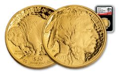 2017-W 50 Dollar 1-oz Gold Buffalo Proof NGC PF70UCAM Early Release 225th Anniversary - Black
