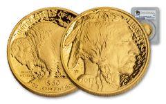 2017-W 50 Dollar 1-oz Gold Buffalo Proof PCGS PR69DCAM First Strike Buffalo Label