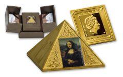 2016 Niue 100 Dollar Gold Temple Of Art Pyramid Proof