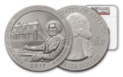 2017-P 25 Cent 5-oz Silver America the Beautiful Frederick Douglass NGC SP70