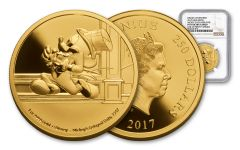 2017 Niue 1-oz Gold Mickey Delayed Date NGC PF70UC- First Strike