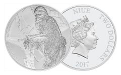 2017 Niue 2 Dollar 1-oz Silver Star Wars Chewbacca Proof