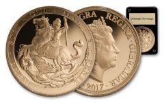 2017 Gibraltar 5 Pound Gold Quintuple Sovereign Proof