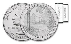 2017 America the Beautiful Ozark National Scenic Riverways Quarters 2 Roll Set