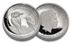2017 Australia 1 Dollar 1-oz Silver Kookaburra Proof- High Relief