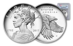 2017-P 1-oz Silver American Liberty Medal PCGS PR69DCAM - First Strike - Flag