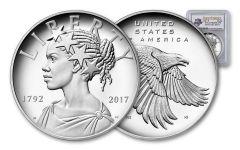 2017-P 1-oz Silver American Liberty Medal PCGS PR69DCAM - First Strike - 225th Anniversary