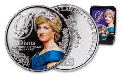 2017 Tokelau 1 Dollar 20-gram Silver Diana Princess of Wales Proof